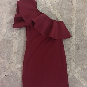 Dresses & Skirts - Red Semi-Formal/Formal One Shoulder Dress